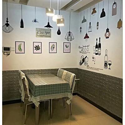 NW02 Koyu Gri Tuğla Desen Kendinden Yapışkanlı Esnek Sünger Duvar Paneli