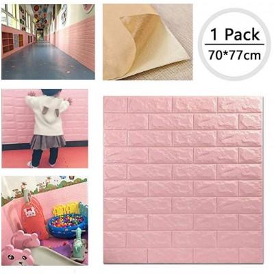 NW03 Pembe Tuğla Desen Kendinden Yapışkanlı Esnek Duvar Paneli Fiyatları