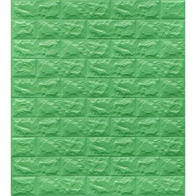 Yeşil Tuğla Desenli Kendinden Yapışkanlı Esnek Sünger Duvar Paneli