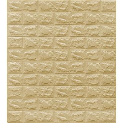 NW09 Sarı Tuğla Desen Kendinden Yapışkanlı Tuğla Esnek Duvar Paneli