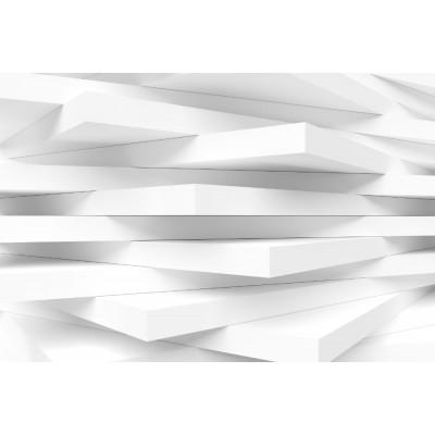 3 Boyutlu Çizgili Gri Plaka Duvar Kağıdı