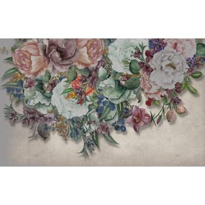 Renkli Sarkmış Tomurcuklu Çiçekler Duvar Kağıdı
