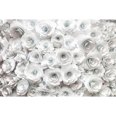 Beyaz Çiçekli Yatak Odası Duvar Kağıdı