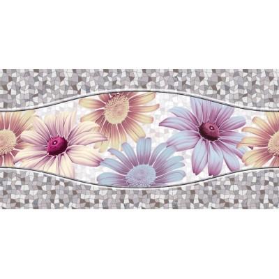 Mozaik Zemin Üzeri Çiçekli Duvar Kağıdı