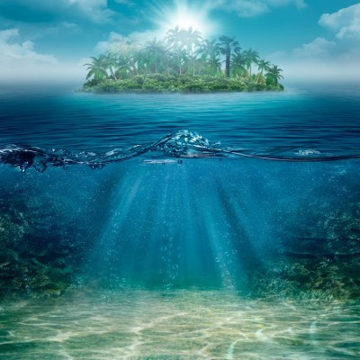 Deniz Altı ve Issız Ada Duvar Kağıdı