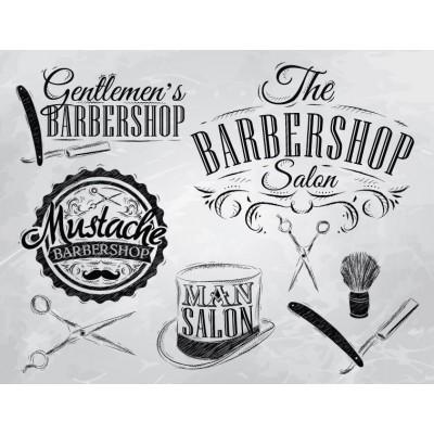 Erkek Berber Shop Salon Kuaför Duvar Kağıdı