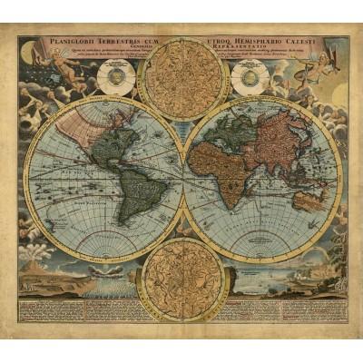 Eski Dünya Haritası Ofis Duvar Kağıdı