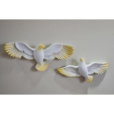 3D Kabartma Kuş Desen Duvar Kağıdı