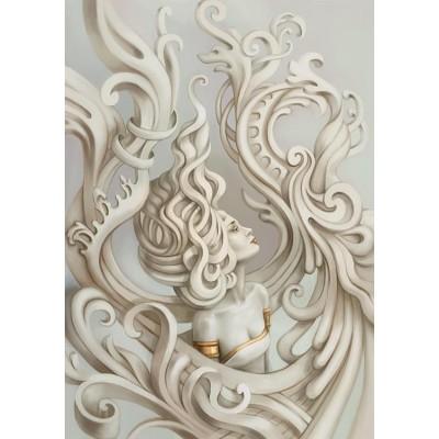 3 Boyutlu 3D Kabartma Kadın Figürlü Duvar Kağıdı