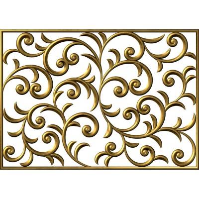 3D Altın Desen Kabartma Süs Çiçek Desen Duvar Kağıdı