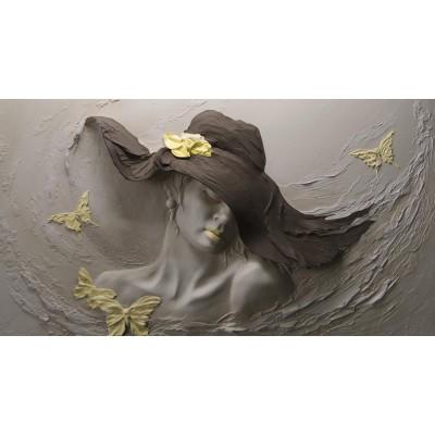 Bayan Kuaför Siyah Şapkalı Kadın Duvar Kağıdı