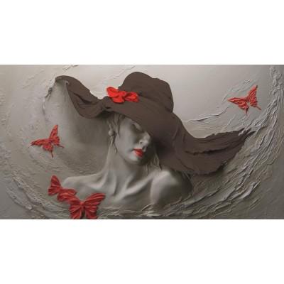 Bayan Kuaför Kırmızı Şapkalı Kadın Duvar Kağıdı