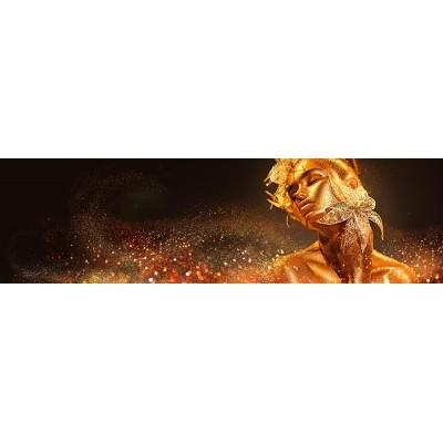 Boyalı Ten Altın Renk Kadın Duvar Kağıdı