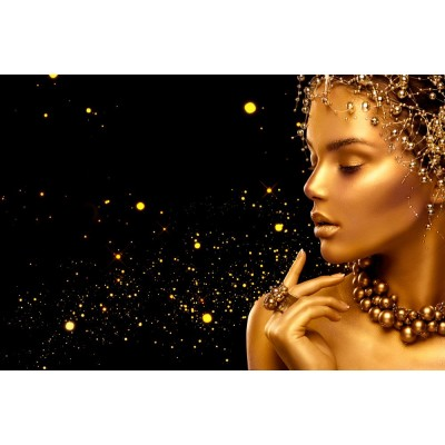 Güzellik Salonu Siyah Zemin Kadın Bayan Kuaför Duvar Kağıdı