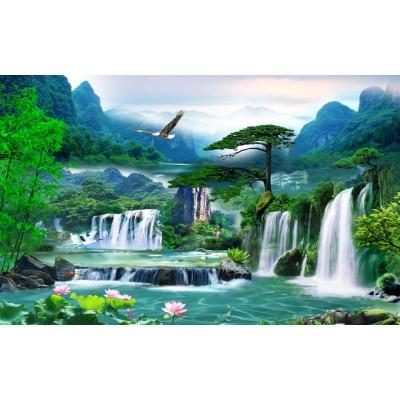 Şelaleler Doğa Manzara Duvar Kağıdı
