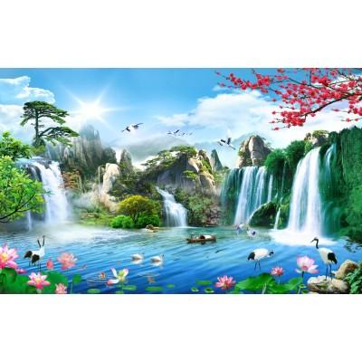Dağlar Hayvanlar Şelale Doğa Duvar Kağıdı