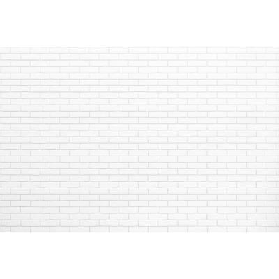 Düz Beyaz Tuğla Desen Duvar Kağıdı