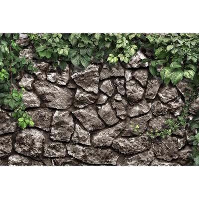 Yapraklı Kaya Motifli Duvar Kağıdı