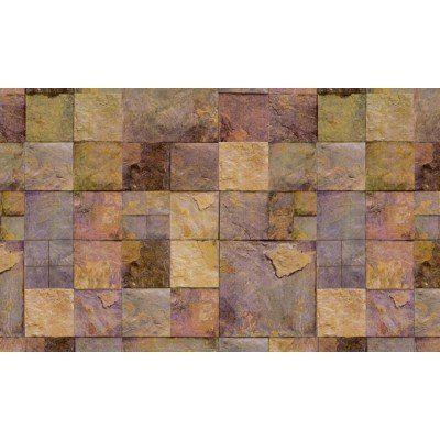 Elemantel 42001-2 Çok Renkli Kare Taş