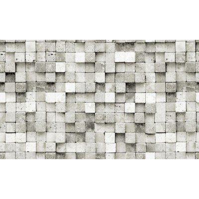 Elemantel 42002-2 Gri Beyaz 3D Küp Taş