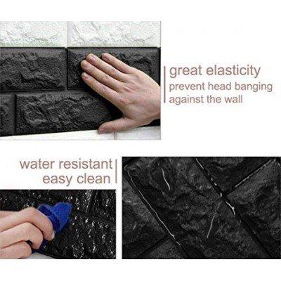 Kendinden Yapışkanlı Siyah Esnek Tuğla Duvar Paneli Silinebilir 70x77 cm Ofis Mağaza Dekoru