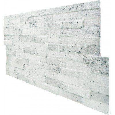PT-207 Taş Desen Beyaz 3D Boyutlu Strafor Duvar Paneli