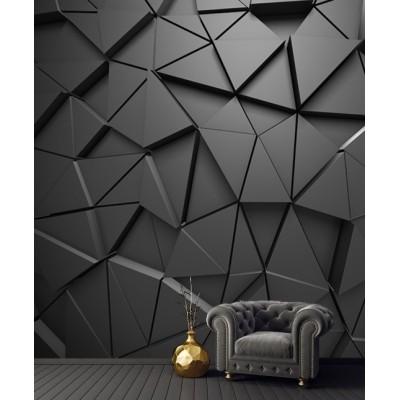 3D Geometrik Siyah Desen