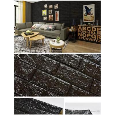 Newwall Siyah Tuğla 8,5 mm Desenli Kendinden Yapışkanlı Esnek Sünger Duvar Paneli Fiyatları