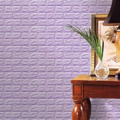 Lila Tuğla Desenli Kendinden Yapışkanlı Esnek Sünger Çıkart & Yapıştır Duvar Paneli Fiyatları