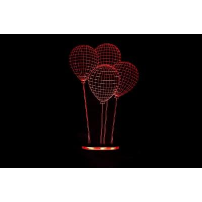 Dekoratif 3D Balon Gece Lambası