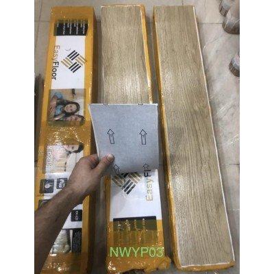 NWYP03 Naturel Bej Yapışkanlı Ahşap PVC Yer Döşeme Parkesi